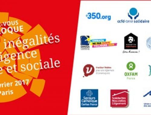 Colloque : Réduire les inégalités, une exigence écologique et sociale