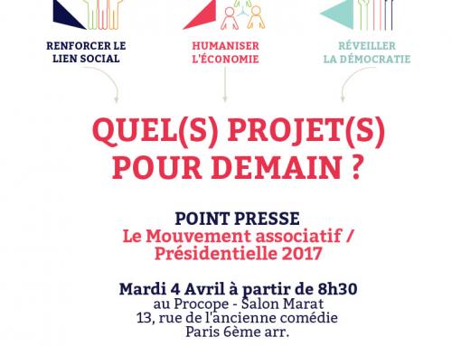 Quelles propositions pour demain ? Le Mouvement associatif convie les médias au Procope à Paris