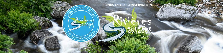 image d'une rivière avec des logos des associations